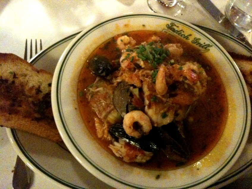 bday extravaganza started with CIOPPINO from Tadich Grill.