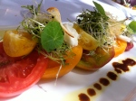 Garden Heirloom Tomato salad with fresh Burrata