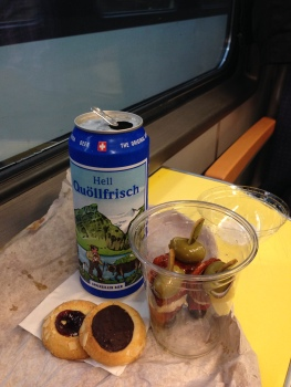 snacking on the train