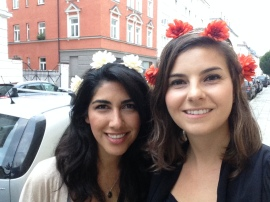 flowers in our hair for day 1 of Oktoberfest!